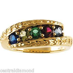 Family Mom Moms MOTHERS RING 14K Gold Ring Jewelry