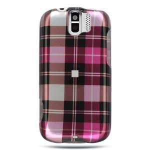 HTC Mytouch Slide Crystal Hard Cover Case Hot Pink Checker