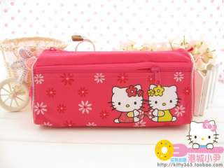 Cute Hello Kitty Design Red Cosmetic Pencil Storage Bag