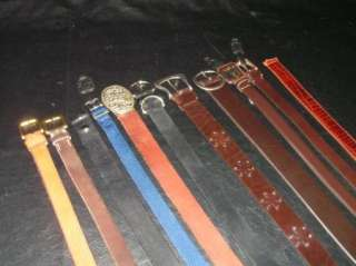 Lot of 8 Ladies Black & Brown Leather Belts + Web Belt. Brighton Gap