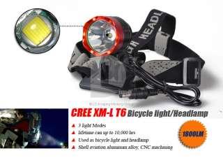 Hi Power 1800 Lumens CREE XM L T6 LED Bicycle Bike Light Headlamp Head
