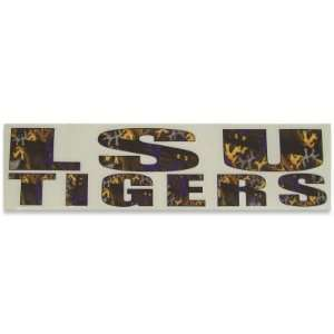 LSU TIGERS OFFICIAL LOGO CAMO CAR WINDOW DECAL Sports