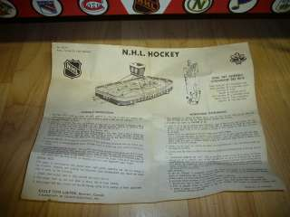 VINTAGE 1960s COLECO NHL STANLEY CUP TIN METAL HOCKEY GAME TOY EAGLE