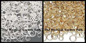 1400+ Silver or Gold Plated Brass Jump Ring Mix 3 12mm
