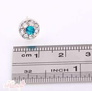 Plated Stylish Pretty Circle Mix Color Full Rhinestone Earrings