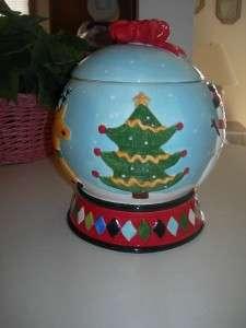 Collectible Christmas Snow Globe Cookie Jar