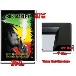 Framed Bob Marley Smoke The Herb Man Poster FrSt4012: Home