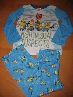 NEW Despicable Me Minion Boys Pajamas 8