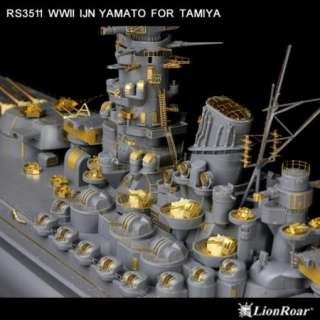 Lion Roar 1/350 WWII IJN Battleship Yamato for Tamiya #LR RS3511