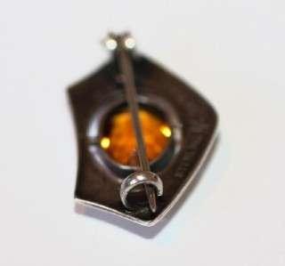 Antique Art Nouveau Charles Horner Sterling Brooch Pin