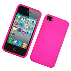 Apple iPhone 4 Texture Hot Pink Hard Cover Phone Case