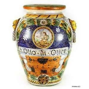 MAJOLICA: Montelupo classic large orcio Olio di OLIVE [OLIVE Oil