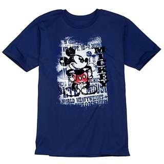 NWT Mens T shirt Tee VINTAGE MICKEY MOUSE Disney Cotton NWT