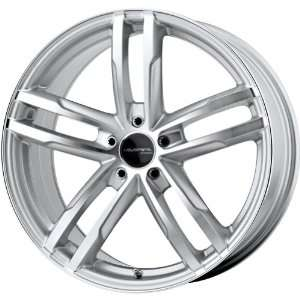 Liquid Metal Curve Series Silver Wheel with Machined Face (17x7.5
