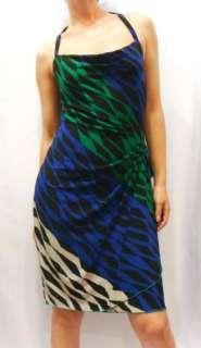 NWT BCBG Max Azria Cowl Twist Printed Jersey Dress S