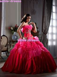 Quinceanera Party Masquerade Evening Prom Fancy Dress Ball Gowns Size