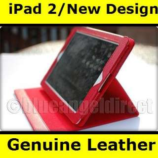 NEW iPad 2 Smart Cover Genuine Leather Case w/ Stand NB