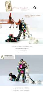 Fashion Crystal High Heels Keychain phone Bag Charm