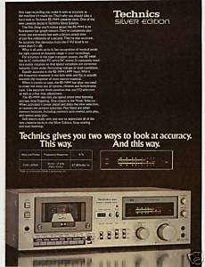 RARE 1979 Technics RS M44 Cassette Deck Ad