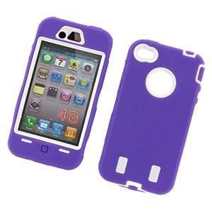 Premium Apple iPhone 4 Silicone Hard Case   Purple