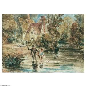 Hand Made Oil Reproduction   David Cox   32 x 32 inches   A Man