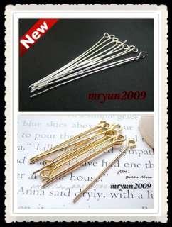 Free 100PCS Jewelry Design Repair gold Silver plated BALL FLAT HEAD