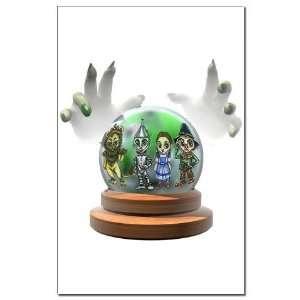 Crystal Ball Oz Gang Wizard oz Mini Poster Print by
