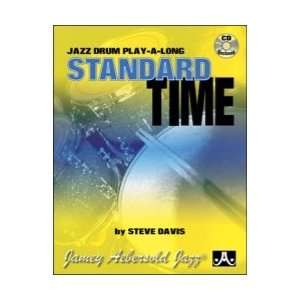 Standard Time Jazz Drums Play Along Book & CD Musical
