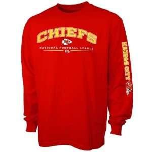 Kansas City Chiefs Red Team Tradition Long Sleeve T shirt