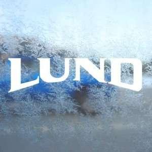 Lund White Decal BOAT CRUISER Car Window Laptop White