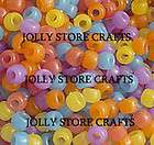 500 UV Color changing Pony Beads kandy kandi 9x6mm