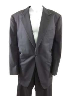 KASHANI Mens Dark Blue Pinstripe Blazer Pant Suit Sz56