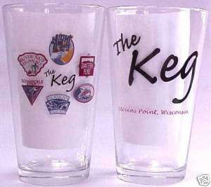 The Keg beer, brewery Stevens Point pint glasses 4