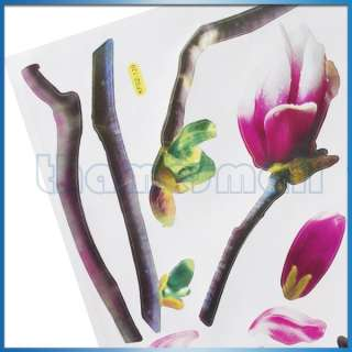 Magnolia Flower Wall Art Sticker Home Decoration Wall Decal #03407