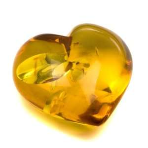 Baltic Ligt Honey Amber Heart for Valentines Day Gift