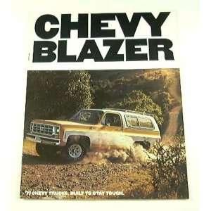 1977 77 Chevrolet Chevy BLAZER Truck BROCHURE C10 K10