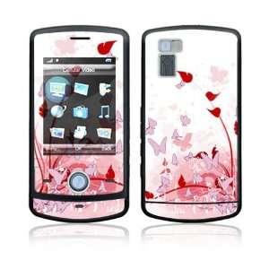 LG Shine (CU720) Decal Skin   Pink Butterfly Fantasy