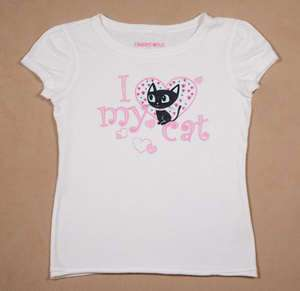 LIMITED TOO JUSTICE I LOVE MY KITTY CAT TOP SHIRT 12