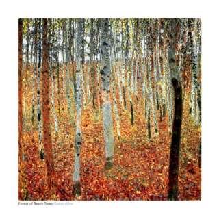 Gustav Klimt Forest of Beech Trees Oil Painting repro