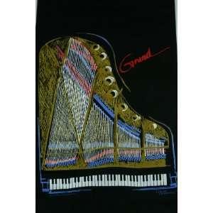 Future Primitive Grand Piano T shirt, XXL   Black Musical Instruments