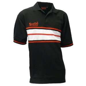 KOOGA Mens Black Rugby Leisure Team Polo T Shirt Sports