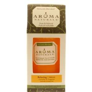 Aroma Naturals   Candle, Relaxing Naturally Blended Pillar