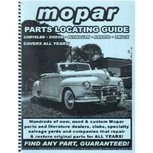 CHRYSLER PLYMOUTH DODGE Parts Locating Guide Book List