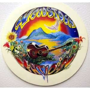 Woodstock Hippie Guitars Music Bumper Stickers Art Decals
