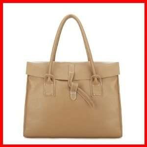 Satchel Shoulder Bag Handbag Tote Briefcase Women New Beige 1170200