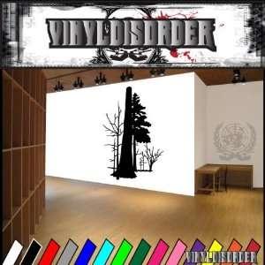 Trees Landscape Tree Line NS011 Vinyl Decal Wall Art Sticker
