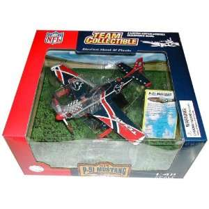 P51 MUSTANG PLANE DIECAST HOUSTON TEXANS NFL FOOTBALL