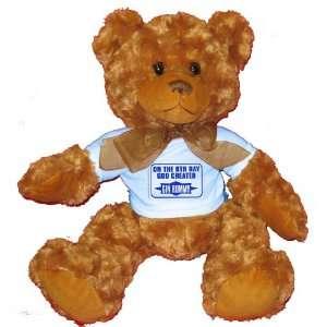 GOD CREATED GIN RUMMY Plush Teddy Bear with BLUE T Shirt Toys & Games