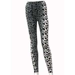 Ladies Snow Leopard Animal Print Leggings Xl/2xl New