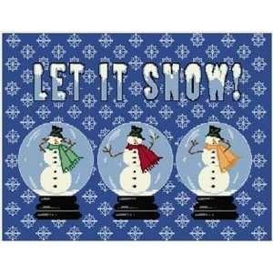 Snow Globes Christmas Saying Word Pillow